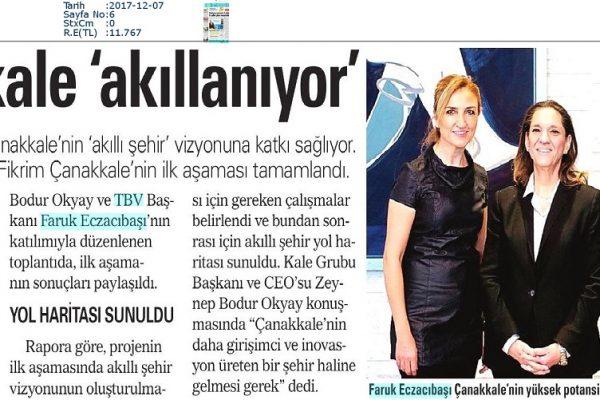 Akşam-ÇANAKKALE__AKILLANIYOR-07.12.2017